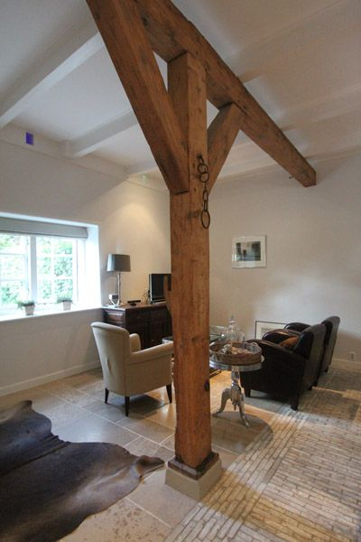 Portfolio verbouwing woonboerderij - Deco oud huis met balk ...